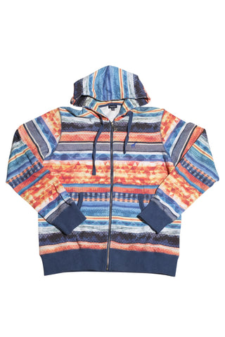 LRG Research Collection Striped Zip Up Multi Color Hoodie M / Multi- Color, Sweatshirts - LRG, Concrete Wave