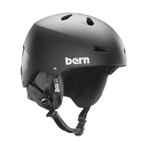 Bern Macon EPS Matte Black w/ 8 Tracks Audio Liner L/XL, Helmet - Bern, Concrete Wave
