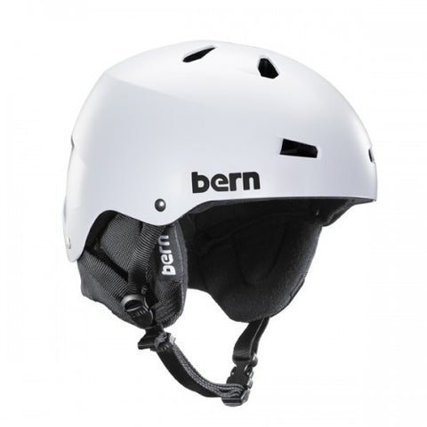 Bern Macon EPS Satin White w/ Black Liner S/M, Helmet - Bern, Concrete Wave