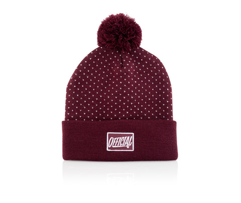 Official Pokapom Beanie One Size / Maroon, Beanie - Official, Concrete Wave