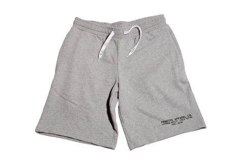 Primitive The Standard Sweat Shorts Heather Grey L / Heather Grey, Shorts - Primitive, Concrete Wave - 1