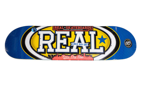 "Real Dompierre Champ Oval Skateboard Deck 8.38"" , Decks - Real, Concrete Wave"