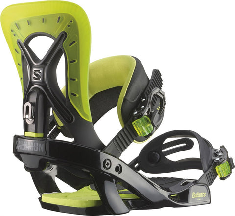 Salomon Balance Black/ Lime Green Snowboard Bindings 2015 , Snowboard Bindings - Salomon, Concrete Wave