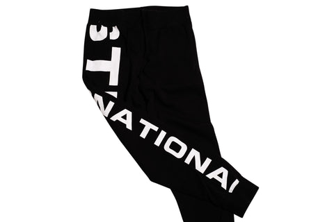 Stussy Shout Out Fleece Pants Black S / Black, Bottoms - Stussy, Concrete Wave - 1