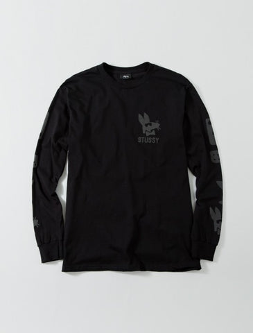 Stussy Stay Paid L/S T Shirt Black , T Shirt - Stussy, Concrete Wave