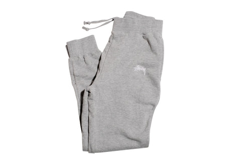 Stussy Training Fleece Pant Grey Heather S / Grey Heather, Bottoms - Stussy, Concrete Wave