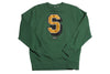 Stussy Super S Green Crewneck Sweatshirt L / Green, Sweatshirts - Stussy, Concrete Wave