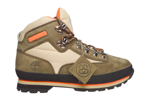 Stussy x Timberland Euro Hiker Boot Brown , Sneakers - Stussy, Concrete Wave - 1