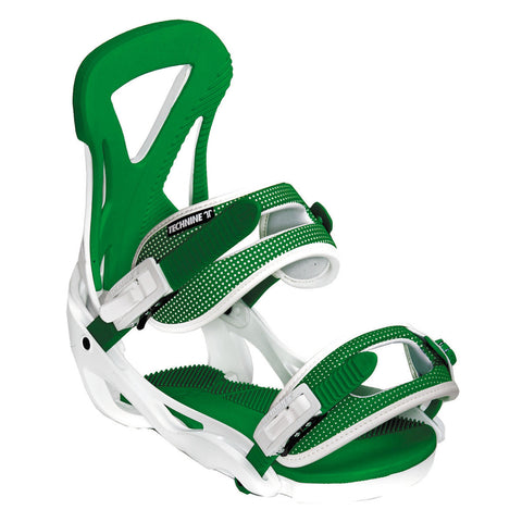 Technine The Classic Green Snowboard Bindings 2015 , Snowboard Bindings - Technine, Concrete Wave