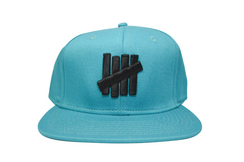 Undefeated 5 Strike Snapback Blue , Hat - Undefeated, Concrete Wave - 1