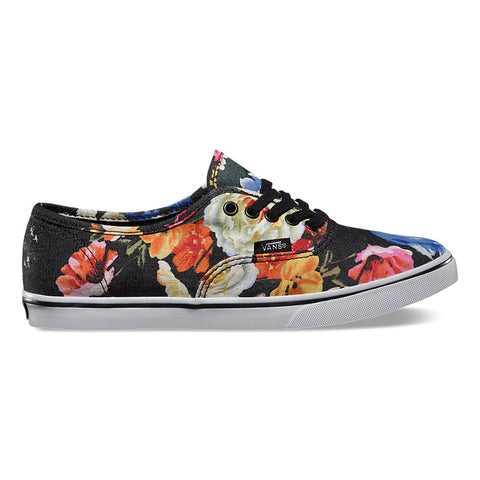 ccc01196dd Vans - Authentic Lo Pro Floral Black True White - Girl Shoes