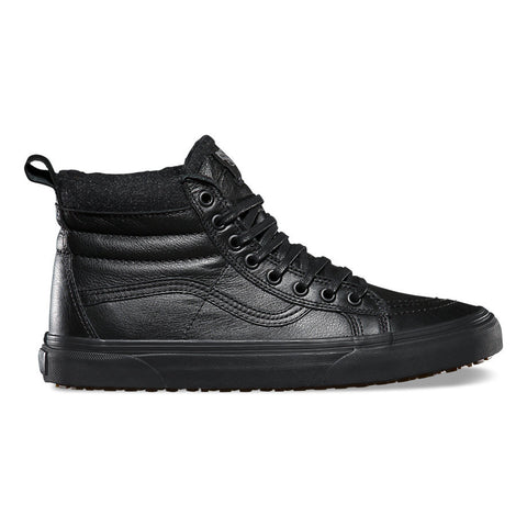 Vans Sk8 Hi MTE Black Leather Sneakers 9 / Black Leather, Sneakers - Vans, Concrete Wave - 1