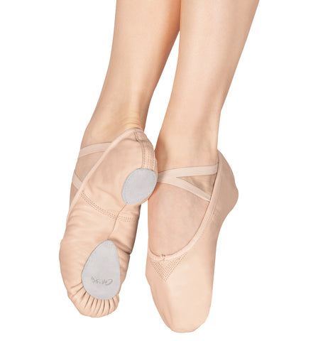 "Capezio Adult ""Cobra"" Leather Split-Sole Ballet Slippers for Women"