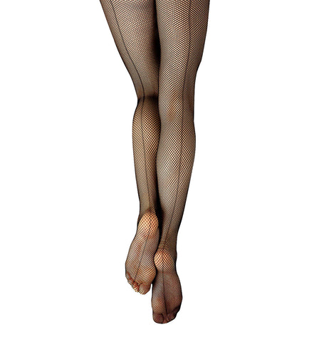 Capezio Studio Basics Back Seam Fishnet Tights for Girls