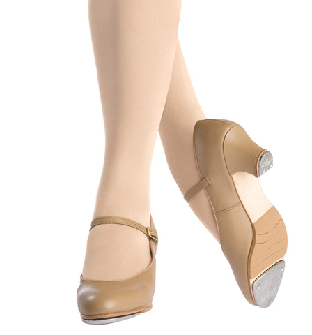 "Capezio Adult Leather ""Jr. Footlight"" 1.5"" Heel Tap Shoes for Women"