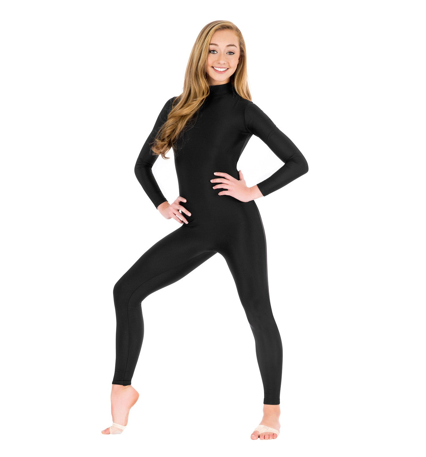 Adult Unisex Mock Neck Long Sleeve Unitard