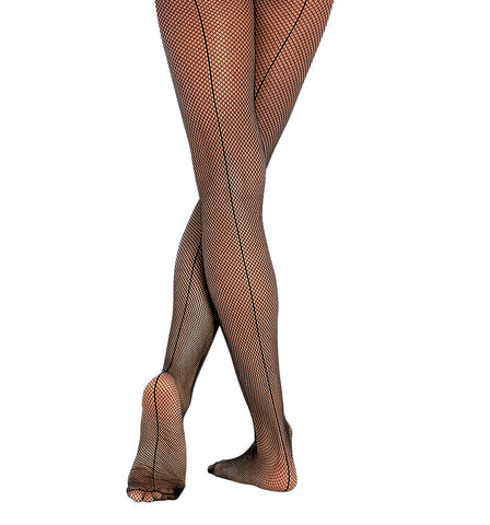 Body Wrappers totalSTRETCH Fishnet Seamed Tights for Girls
