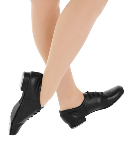 "Capezio ""Fluid"" Lace Up Tap Shoes for Girls"