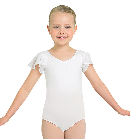 "Bloch ""Scarlet"" Flutter Sleeve Leotard for Girls"
