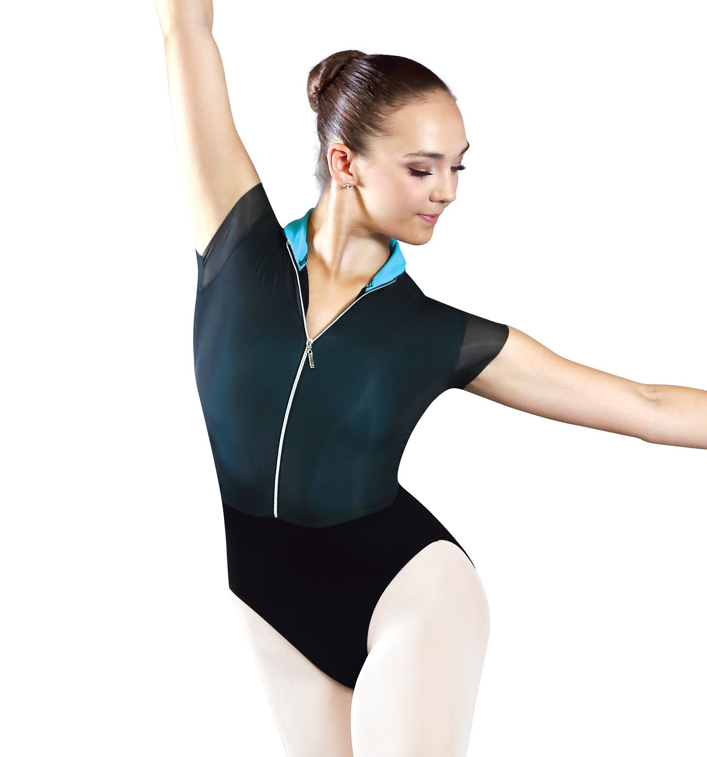 1737 Adult Bolshoi Stars Collection Powermesh Short Sleeve Leotard for Women