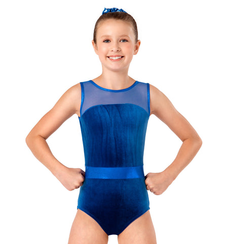 Perfect Balance Velvet Tank Leotard for Girls