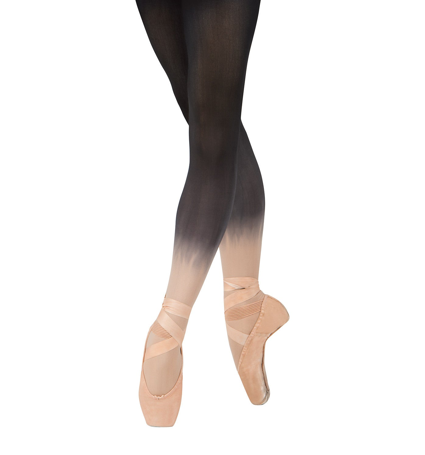 Discount Dance Supply Adult Ombre Opaque Footed Tights for Women