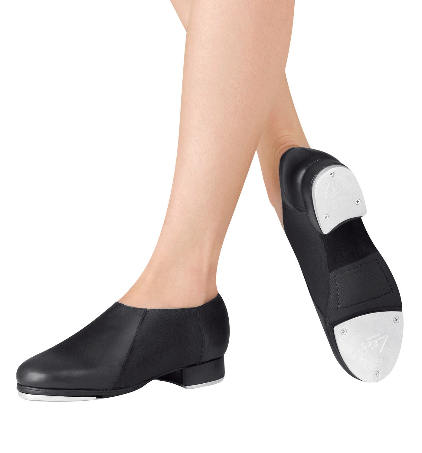 Leo's Adult Slip On Jazz Tap Shoes for Women