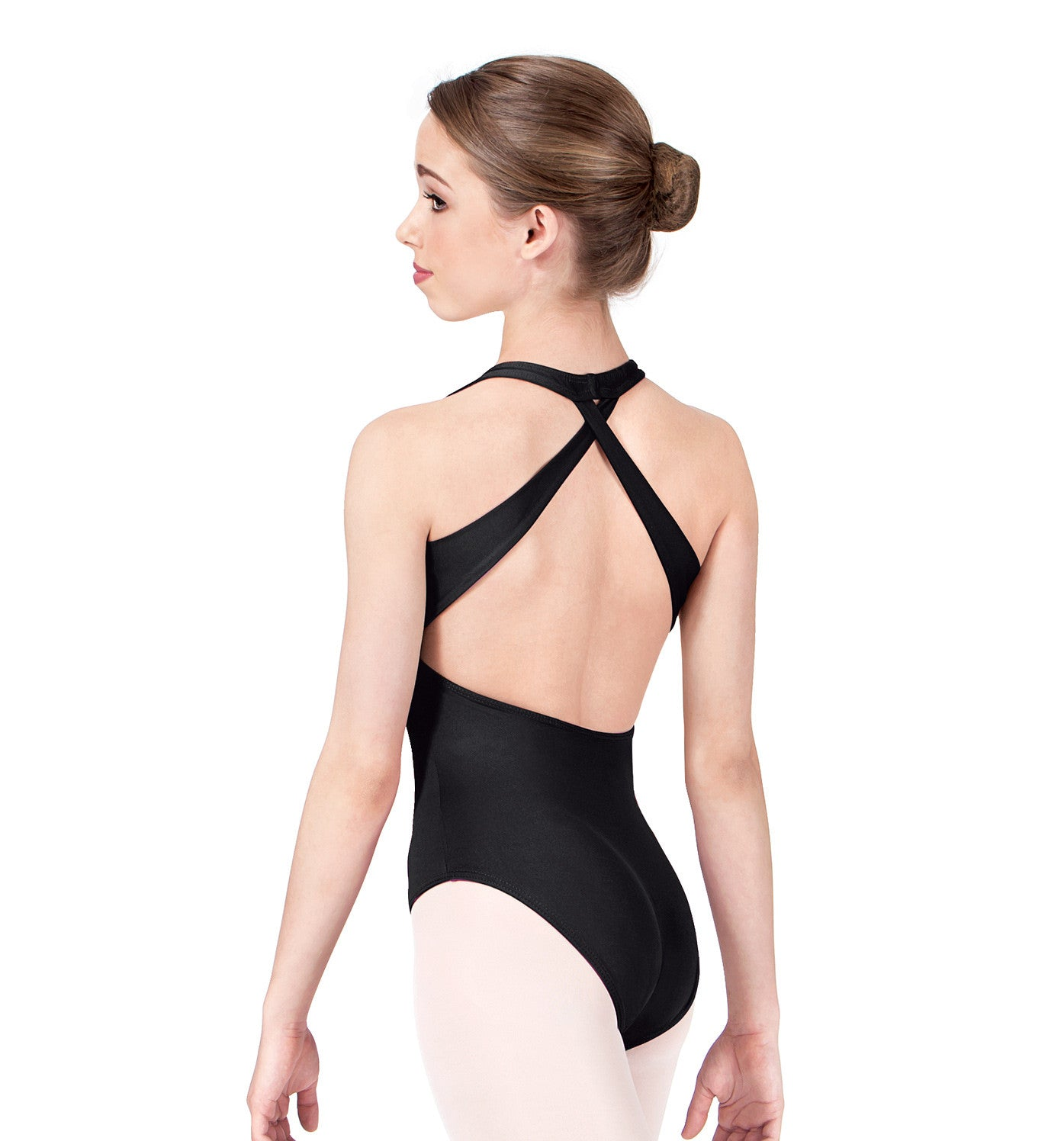 Motionwear Adult Cross Back Halter Leotard for Women