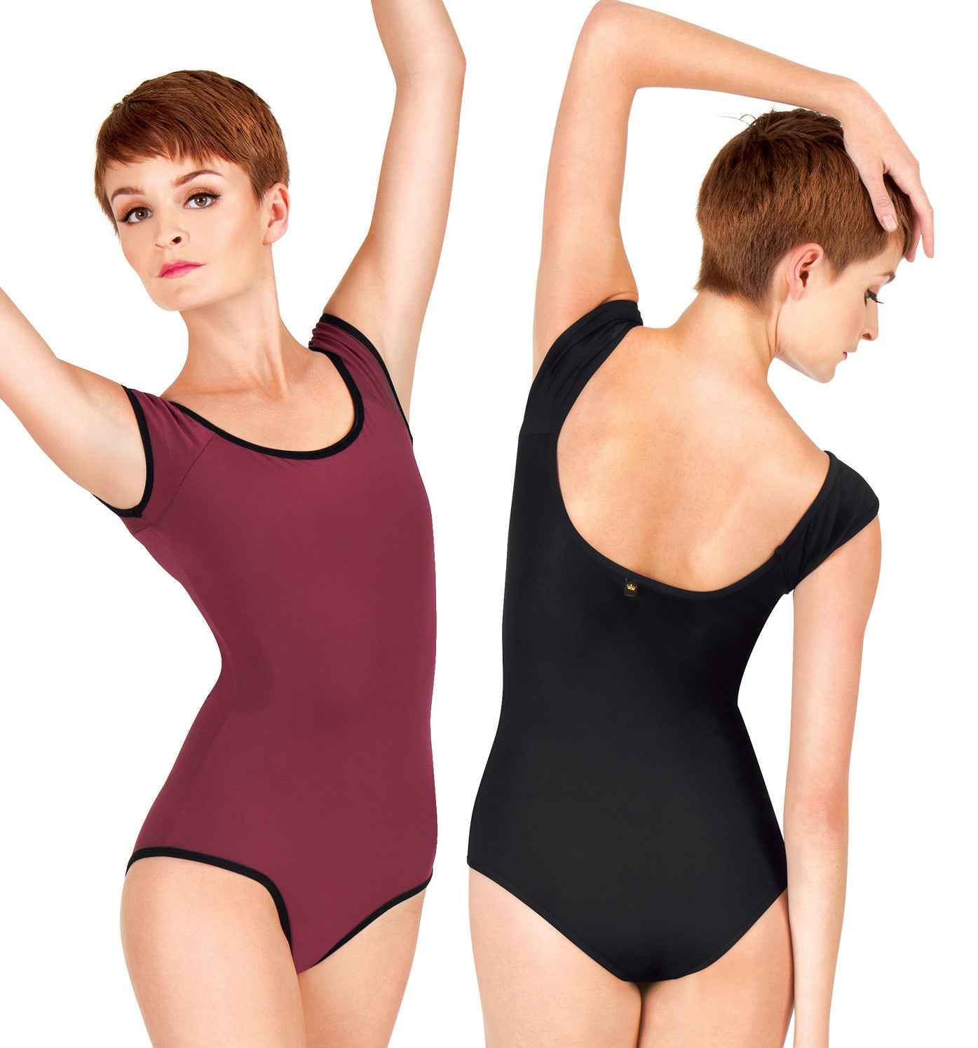 "Mariia Adult ""Inga"" Reversible Cap Sleeve Leotard for Women"