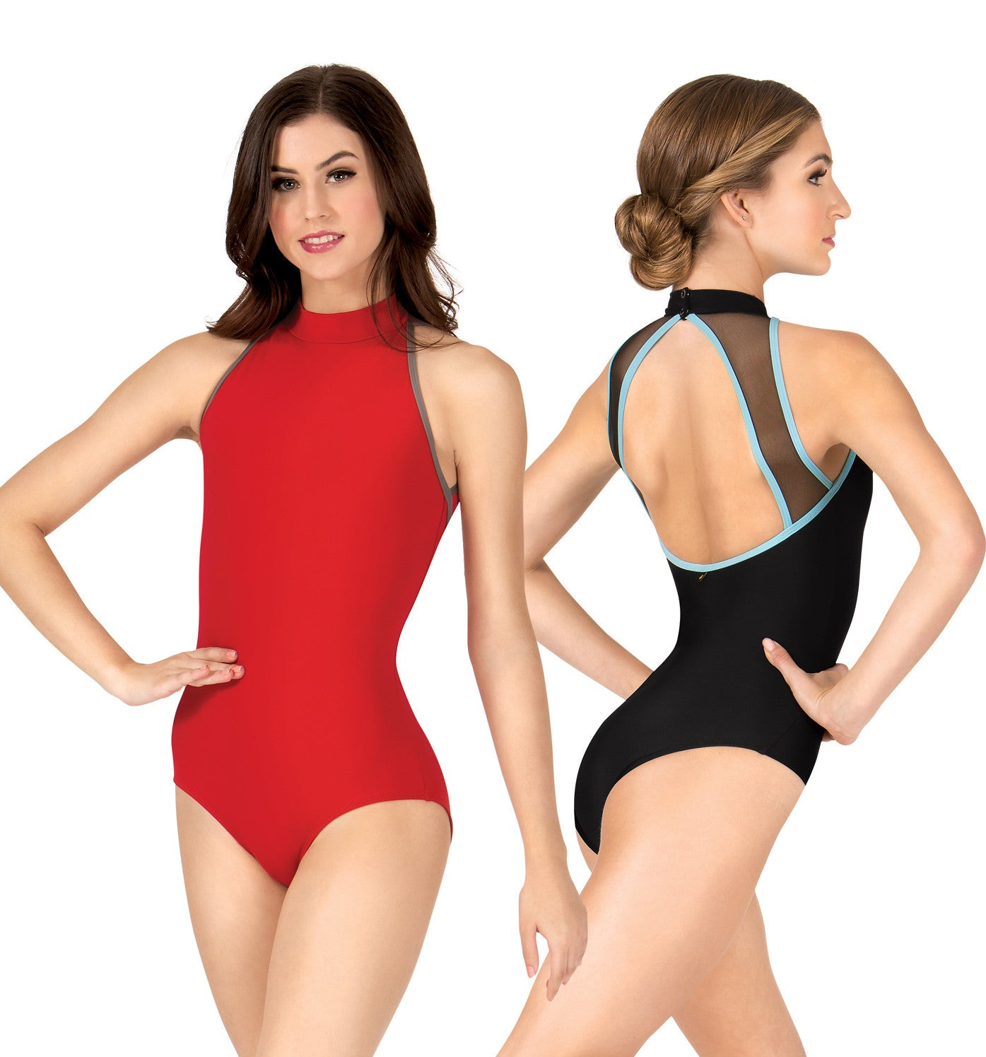 "Mariia Adult ""Sabina"" High Neck Mesh Back Leotard for Women"