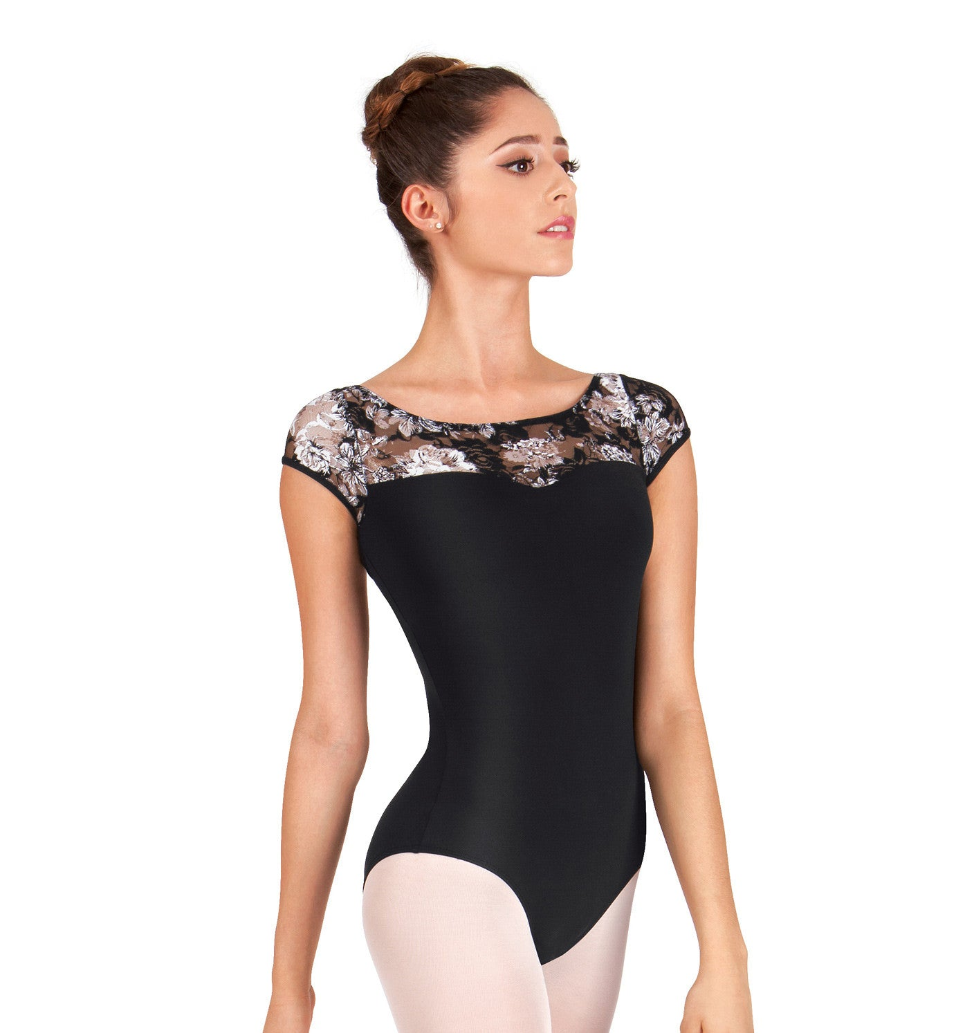 Ashley Bouder Adult Lace Sweetheart Cap Sleeve Leotard for Women