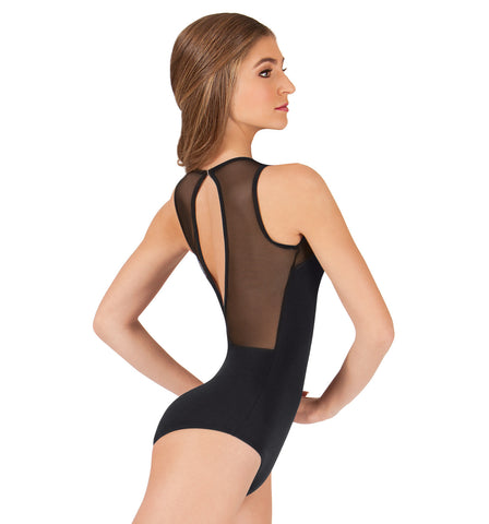 Body Wrappers Adult Tiler Peck Power Mesh Slit Back Tank Leotard for Women
