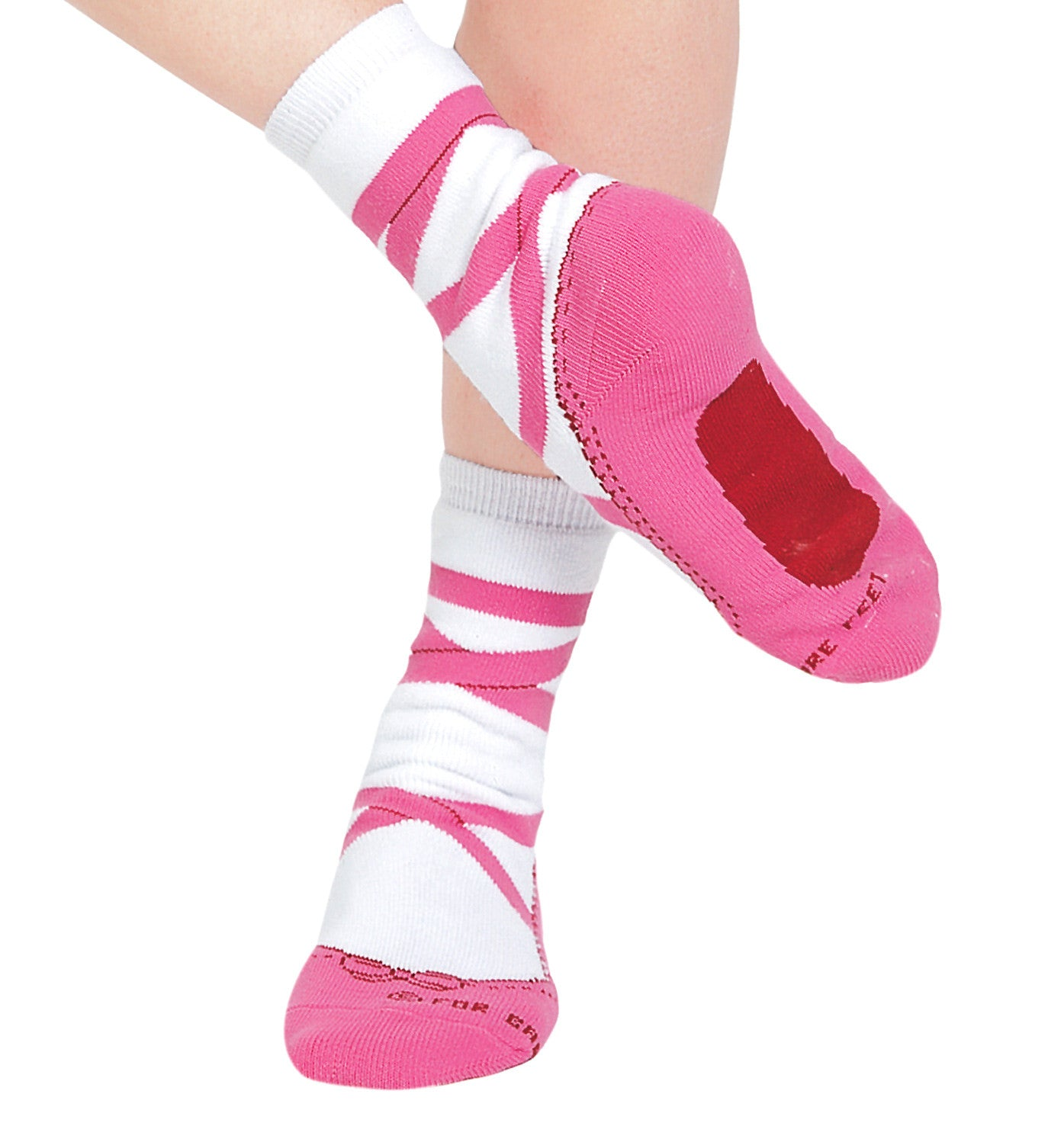 For Bare Feet Adult Pointe Shoe Socks for Women