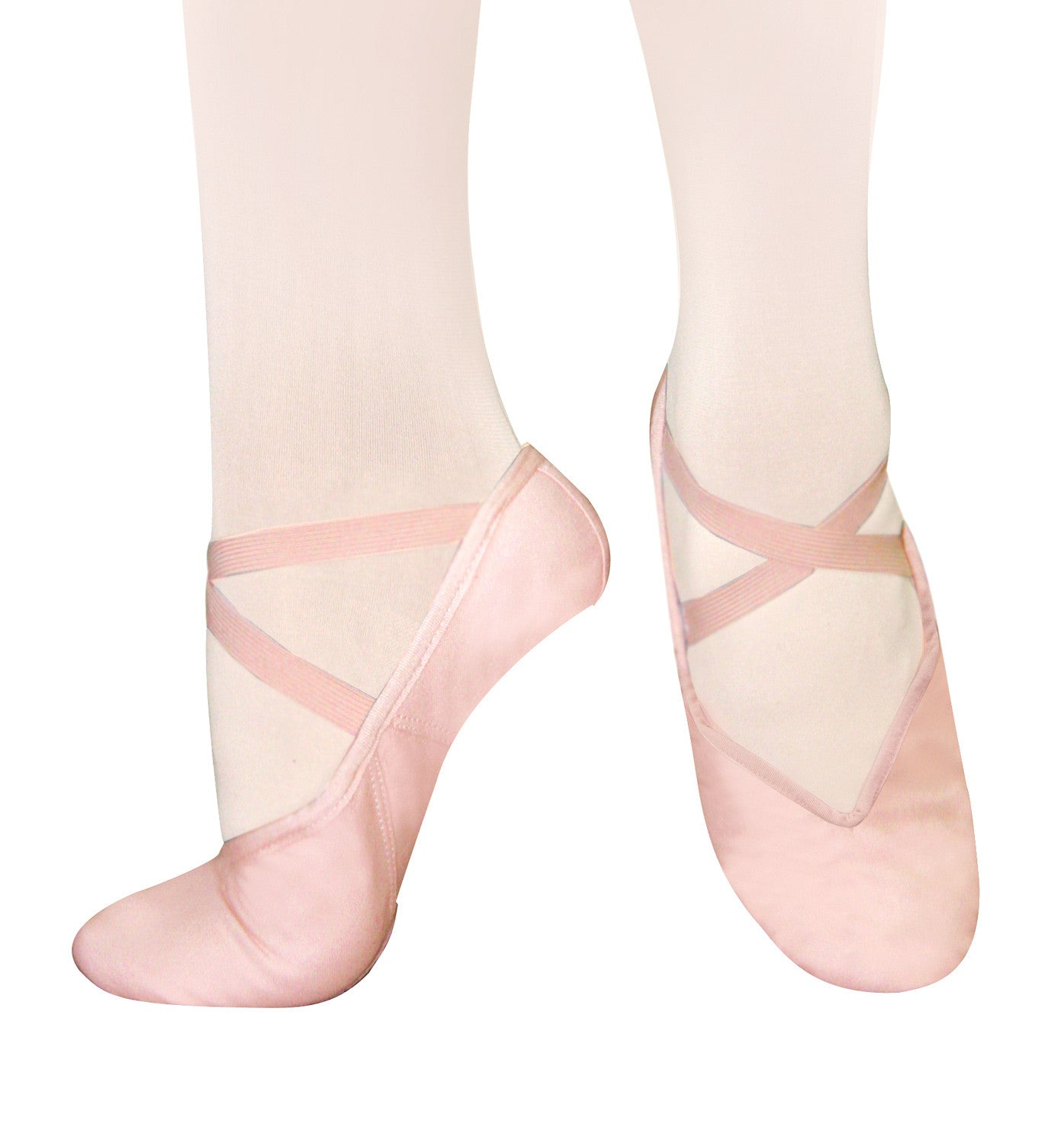 Sansha Adult Tendu Canvas Split-Sole Ballet Slippers for Women