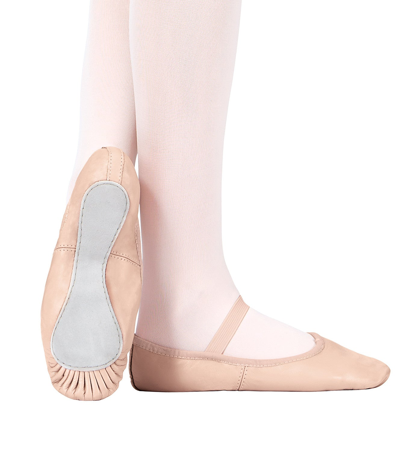 Theatricals Premium Leather Full Sole Ballet Shoes for Girls