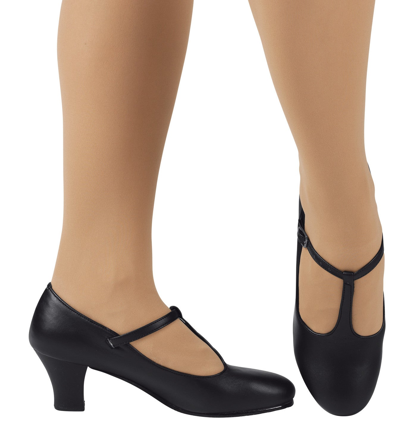 "Theatricals Adult 2"" T-Strap Character Shoes for Women"