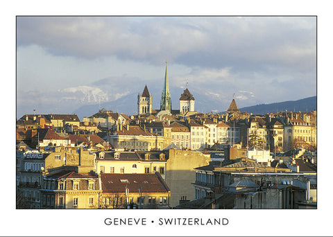 10253 - Geneva - Old town and St. Peter's Cathedral, Switzerland