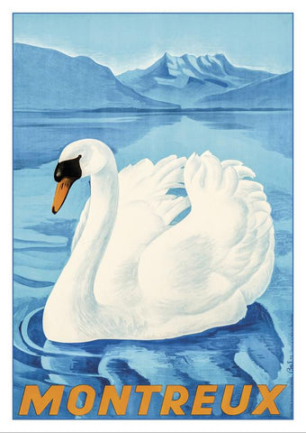 MONTREUX - Poster by L. Besson - 1943