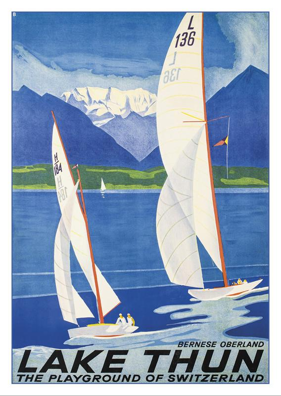 LAKE THUN - Poster by Otto Baumberger - 1936