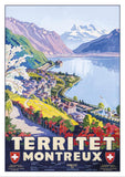 TERRITET - MONTREUX - Poster by Johann Emil Müller - About 1927