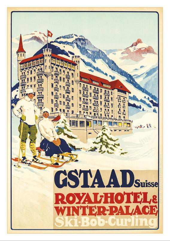 GSTAAD - ROYAL-HÔTEL - Poster by Carlo Pellegrini - 1913
