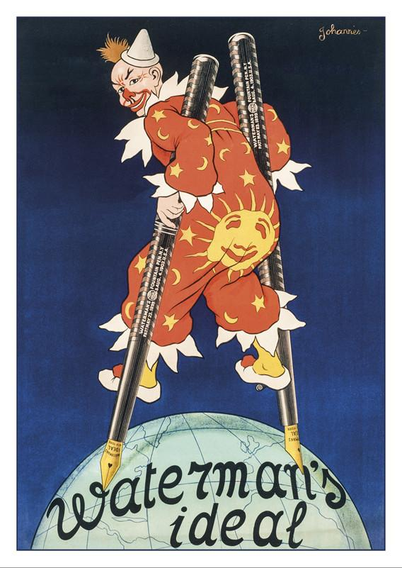 10544 - WATERMAN'S - Poster by Johannes - About 1910