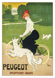 PEUGEOT - Poster by Walter Thor, about 1900