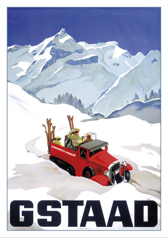 10555 - GSTAAD - Poster by Alex Diggelmann - 1934