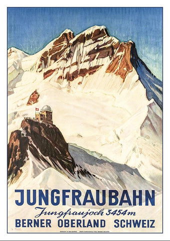 Postcard - JUNGFRAUBAHN - Poster by Ernst Hodel about 1936