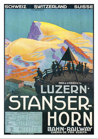 Postcard - LUZERN - STANSER-HORN - Poster by 1913