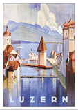 Postcard - LUZERN - 1928 - Poster by Otto Baumberger