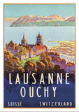 Postcard - LAUSANNE - OUCHY - Poster by Johann Emil Müller - 1929