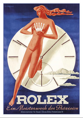 Postcard - ROLEX - Poster by Hermann Behrmann und Willy Bosshard about 1942