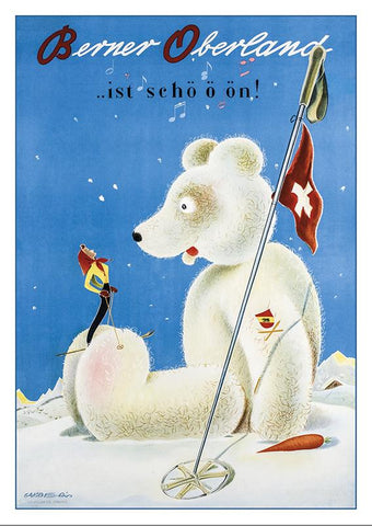Postcard BERNER OBERLAND - Poster by Franco Barberis about 1944